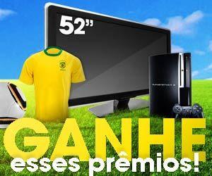 Promoção Abril TVs de LCD de 52'', Playstations 3 e camisas oficiais da Seleção Brasileira