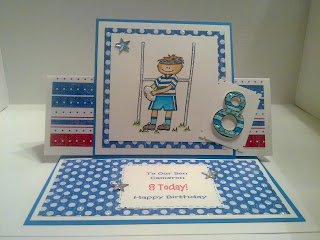 Handmade Cards By Jo: 8 Year Old Boy Birthday Card