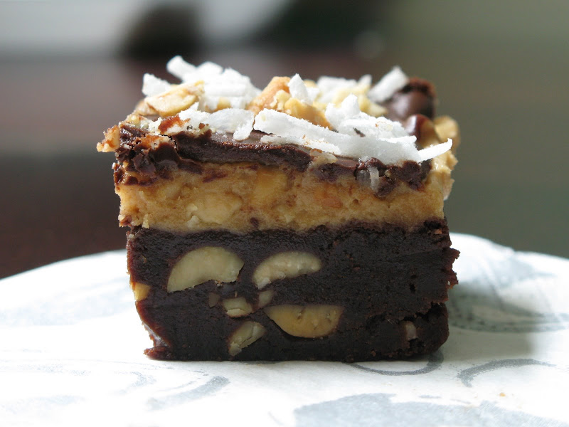 Rose's Recipes: Peanut Butter and Fudge Brownies with Salted Peanuts