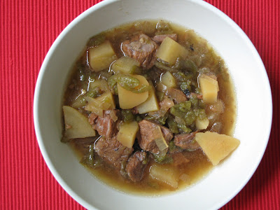 how to make green chili beef