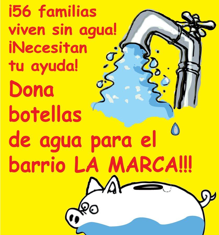 Falta de agua potable en el barrio La Marca