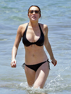 Model and pop singer Lindsay Lohan desktop wallpapers and screen savers