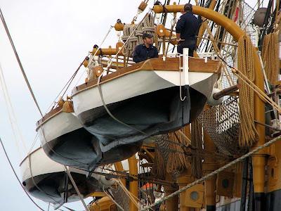 On training cruises the ship
