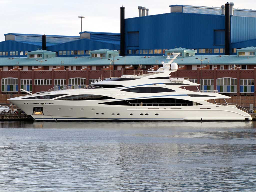 ... semi-displacement yacht, entirely made of aluminium by Benetti Yachts.