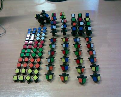 Rubik 5x5x5 desarmado