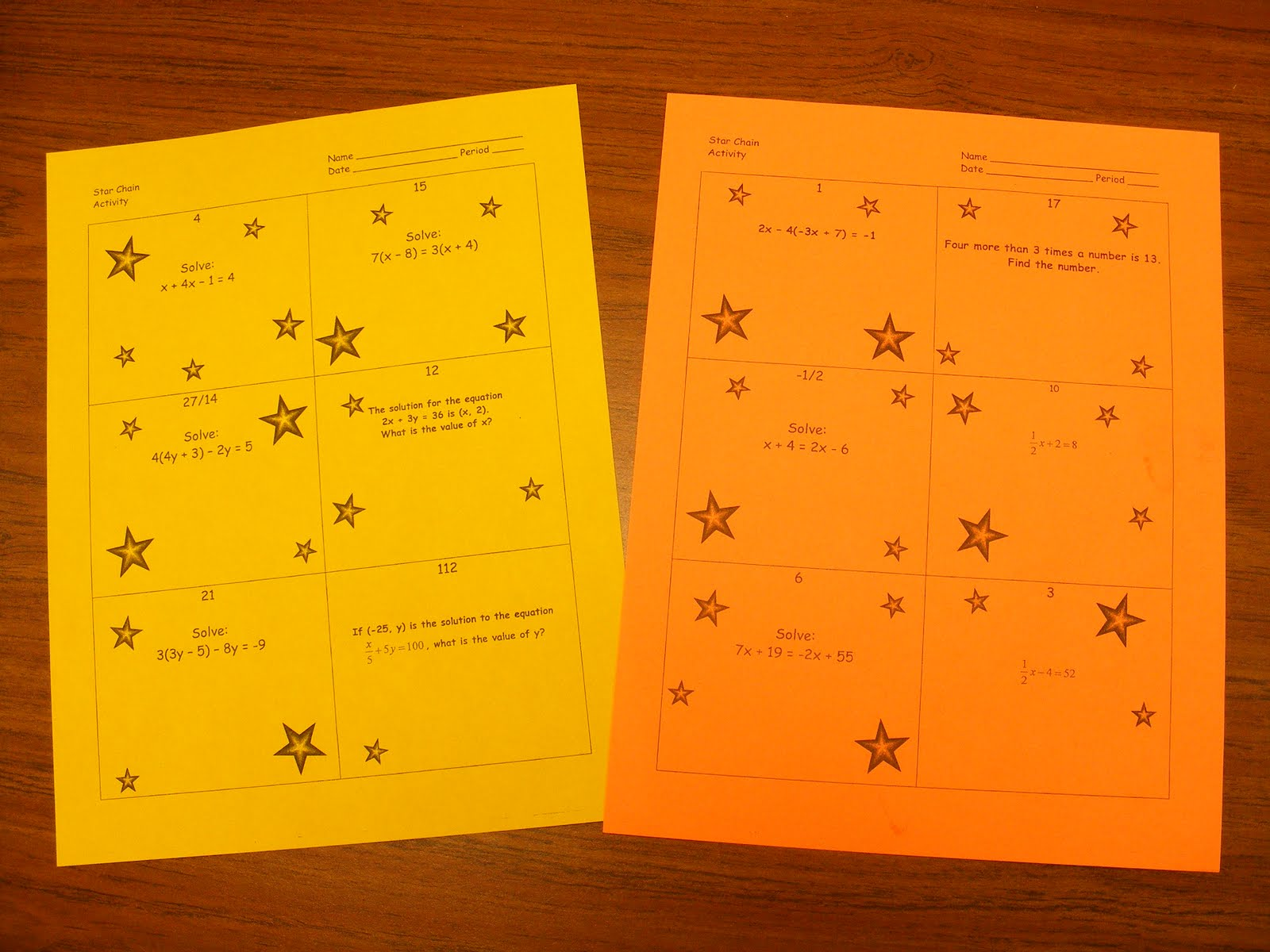 Math Tales from the Spring: Self-Checking Practice Activity