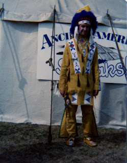 British person dressed up as Native American
