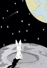 un conejo en la luna