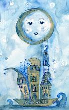 una nave y una luna