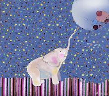 un elefante y la luna