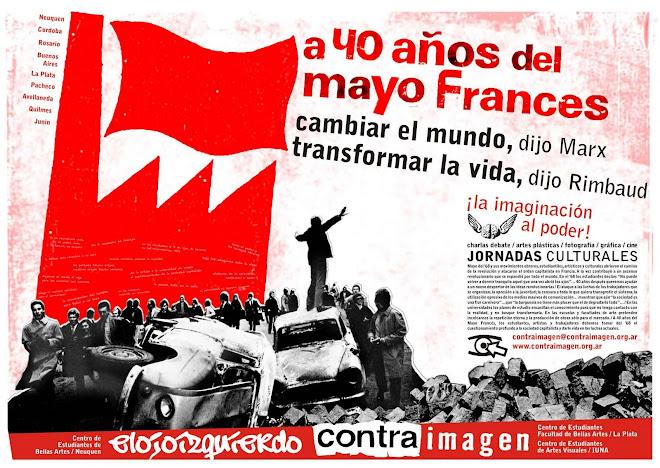 Afiche Nacional de las Jornadas Culturales a 40 años del Mayo Frances