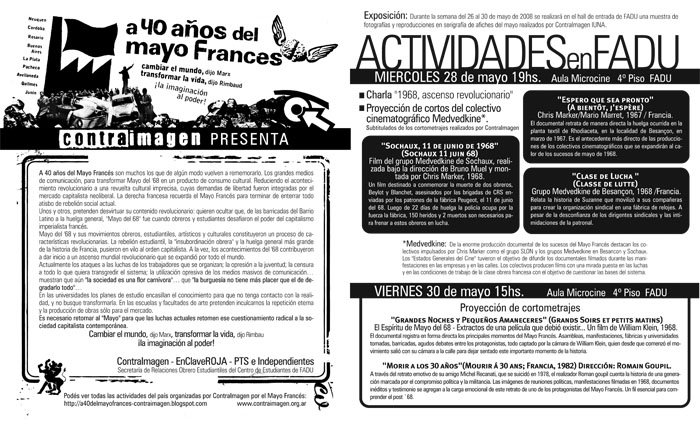 Volante de las Jornadas en Ciudad Universitaria / FADU