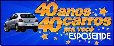 Promoção esposende 40 anos, 40 carros pra você