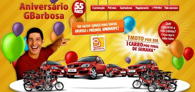 Promoção de aniversário 55 anos G. Barbosa