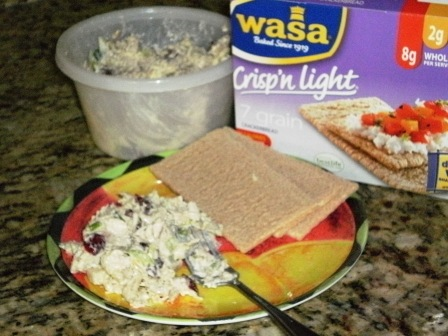 Turkey Salad with Wasa 7 Grain Crackerbread