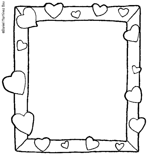 free picture frame coloring pages - photo#28