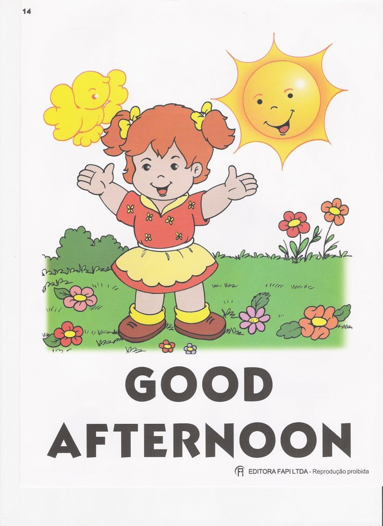 Good afternoon greetings cards