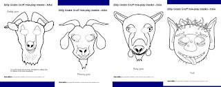 THE BILLY GOATS GRUFF STORY MASKS | learningenglish-esl