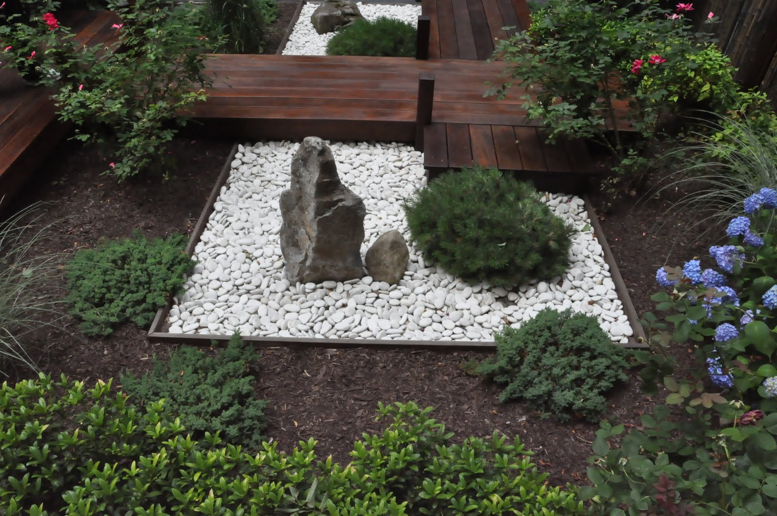 Small zen garden design photograph this small rock garden for Backyard zen garden design