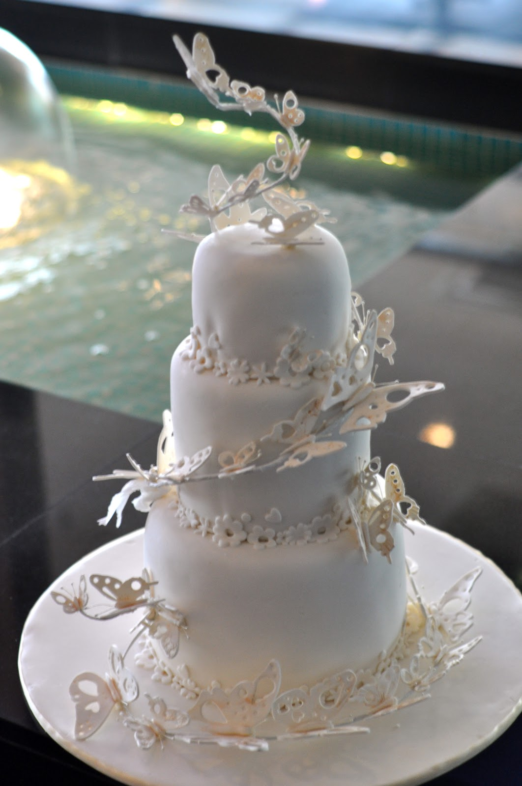 Delicious Cakes By Nell Butterfly Wedding Cake