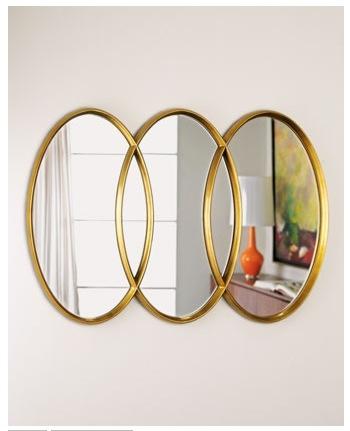 Horchow- Triple Interlocking Oval Mirrors