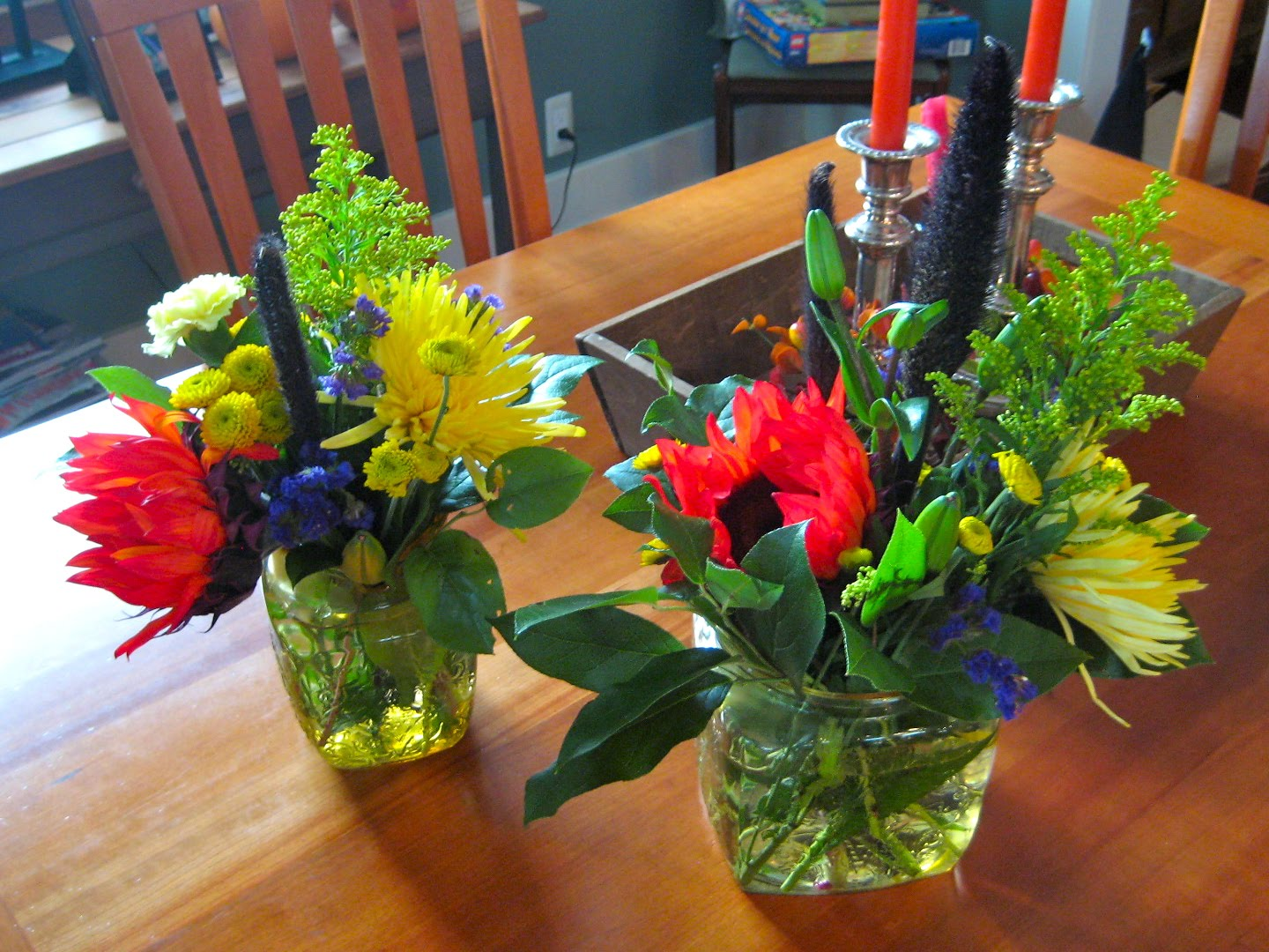 Thanksgiving Table Centerpiece Made From Costco Or Supermarket Fall Flower  Bouquets