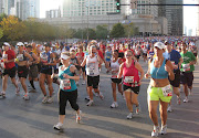 . completed last month's Bank of America Chicago Marathon on 10/10/10. (chicago marathon start)