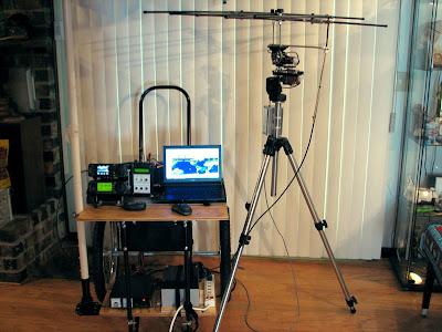 Antenna for amateur sattelite