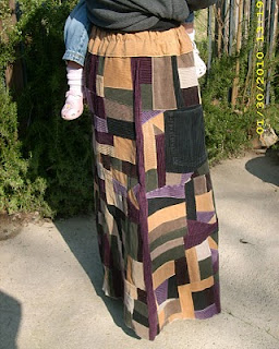 side view of my patchwork skirt