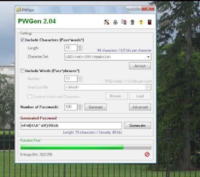 PWGen - un programa para generar contraseñas seguras