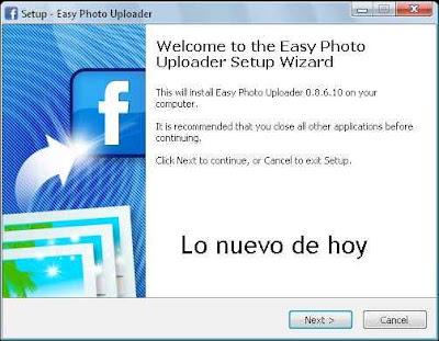 Easy Photo Uploader for Facebook - programa ara subir fotos a Facebook desde el escritorio