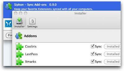 Siphon - sincroniza tus extensiones de Firefox