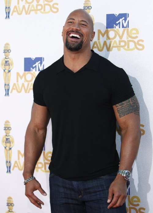 "Durante los MTV Movie Awards 2010, Dwayne ""The Rock"" Johnson"