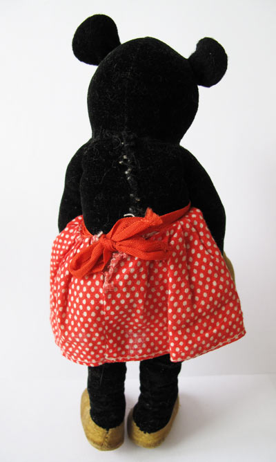 deans antique minnie mouse velveteen doll