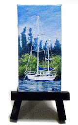 """A Day's Rest 2"" - 2"" x 4"" gallery wrap with easel - $ 45.00"