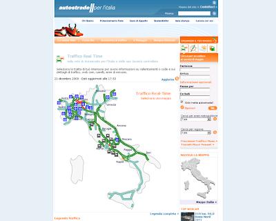 Autostrade traffico in tempo reale sitobello for Traffico autostrade in tempo reale
