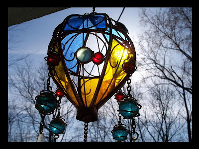 wind chimes in the sun