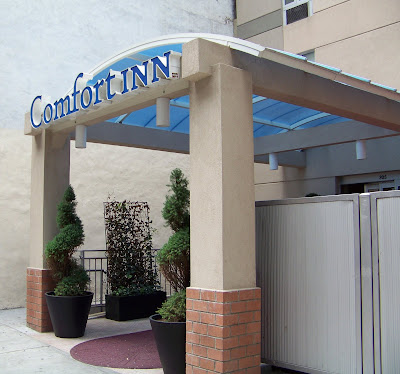 The front entrance of The Comfort Inn Times Square