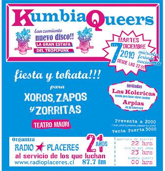 Kumbia Queers + LasKoléricas+ Arpías junto a Radio Placeres 07 Dic