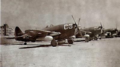 DIA DA AVIAÇÃO DE CAÇA - 1º Grupo de Aviação de Caça Brazilian+Air+Force+1st+Fighter+Group-Blue+Flight-lined+in+Italy-WWII