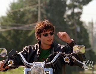 Clark Kent on a Motorcycle