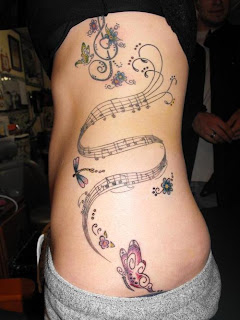music tattoos, tattooing