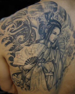 Back Piece Japanese Geisha Tattoo For Female Tattoo Designs Gallery
