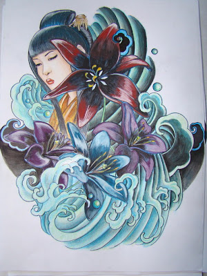 Japanese Geisha Tattoo Designs Gallery 26