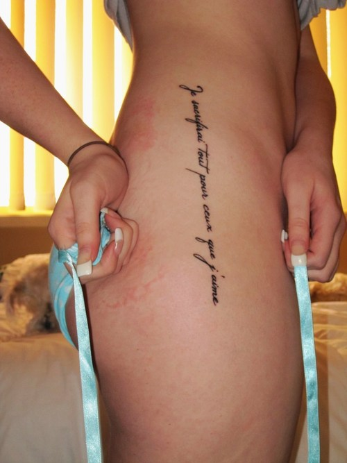 lettering tattoos for girls. Girl Side Lettering Tattoos