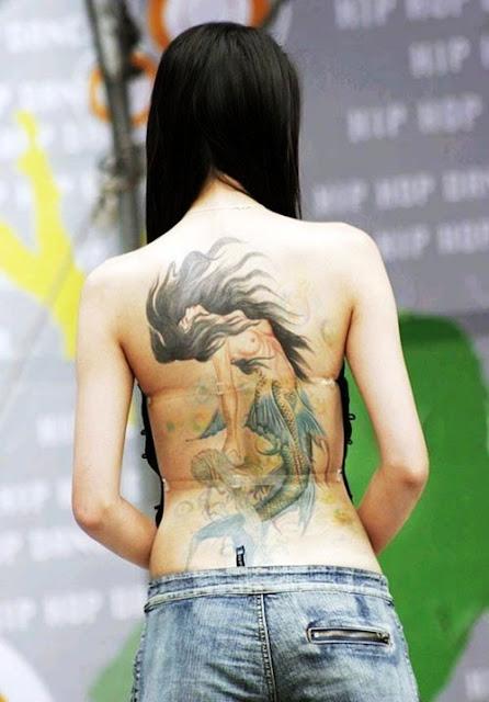 Mermaid Unique Tattoo Art