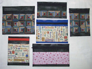 six zippered screen bags