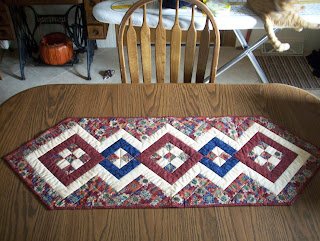 Table runner on the kitchen table