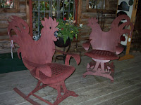 chicken chairs at Patti's