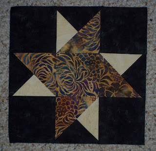Double Friendship block made with batik fabrics